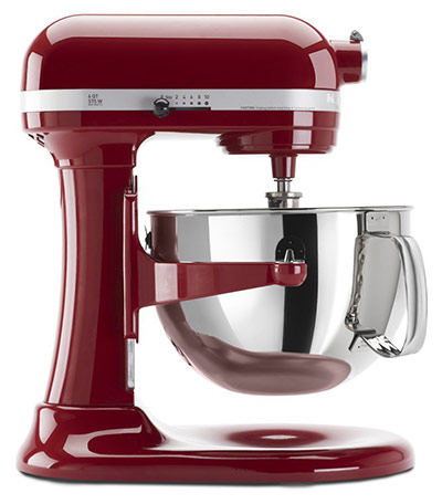 KitchenAid Professional 600 Series KP26M1XER Bowl-Lift Stand Mixer, Empire Red