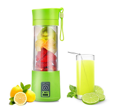 Portable Blender USB Juicer Cup,Juicer Machine 380ml with USB Charger Fruit Mixing Machine Personal Size Rechargeable Juice Blender and Mixer
