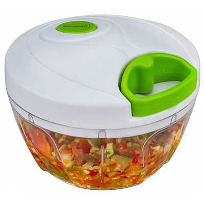 Brieftons Manual Food Chopper, Compact and Powerful Hand Held Vegetable Chopper, Mincer, Blender to Chop Fruits, Vegetables, Nuts, Herbs, Onions, Garlics for Salsa, Salad, Pesto, Coleslaw Puree