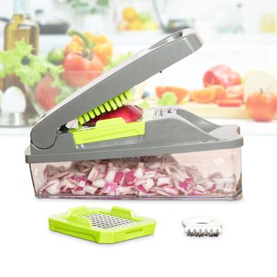 Onion Chopper Pro Vegetable Chopper by Müeller - Strongest - NO MORE TEARS 30% Heavier Duty Multi Vegetable-Fruit-Cheese-Onion Chopper-Dicer-Kitchen Cutter