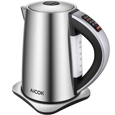 Aicok Electric Kettle Variable Temperature Control Water Kettle with 6 Temp Setting and Keep Warm Function 1.7L Stainless Steel Kettle, Auto Shut Off Boil Dry Protection, 1500W