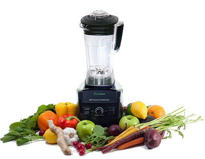 Blender By Cleanblend 3HP 1800-Watt Commercial Blender, Mixer with a 64 ounce BPA Free Container, Stainless steel 8 blade assembly, includes Tamper, smoothie maker, home blender